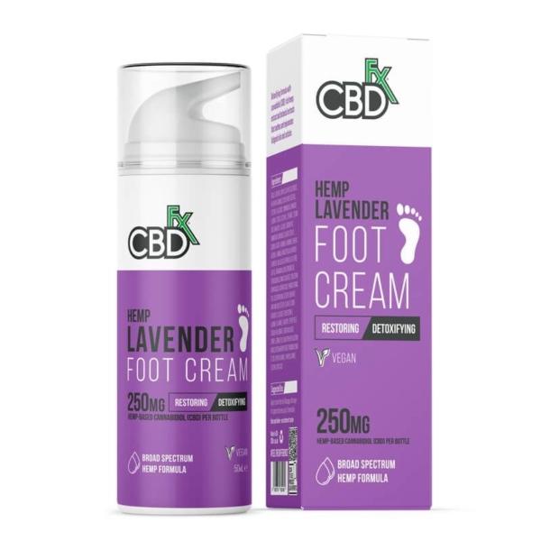 CBDfx Lavender Foot Cream 250mg 50ml, Cloud Vaping UK