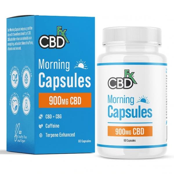 CBDfx Morning Capsules (Jar of 60), Cloud Vaping UK