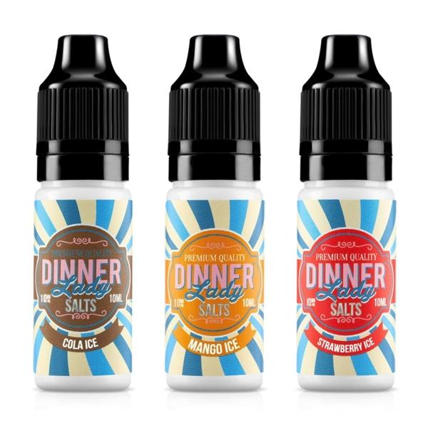 Dinner Lady Nic Salts Ice Range 10ml E-liquid, Cloud Vaping UK