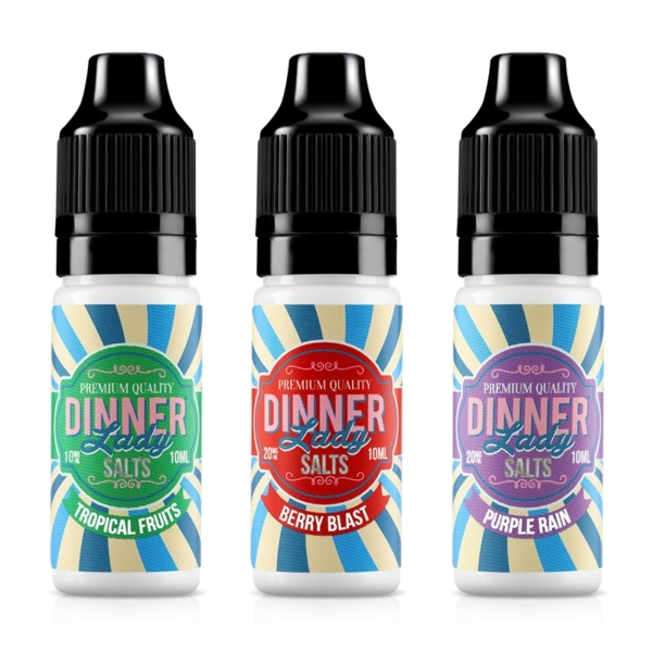 Dinner Lady Nic Salts Fruits Range 10ml E-liquid, Cloud Vaping UK