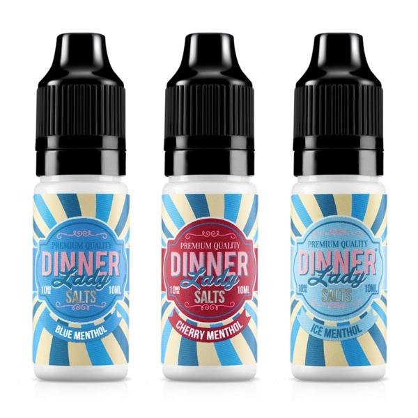 Dinner Lady Nic Salts Menthol Range 10ml E-liquid, Cloud Vaping UK